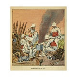 Madagascar War 1885-95, French 200th Line Regiment's Bivouac in Madagascar, 1895 Giclee Print by Louis Bombled