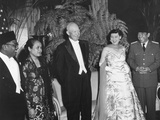 President and Mrs. Eisenhower at a Dinner Given in their Honor by the Indonesia'S, Sukarno Photo