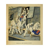 Madagascar War 1885-95, Wounded Landing from Hospital Ship 'Shamrock' in Algiers Giclee Print by Louis Bombled