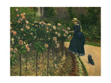Roses in the Garden at Petit Gennevilliers, 1886 Giclee Print by Gustave Caillebotte