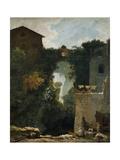 Grand Cascade at Tivoli. 1761-62 Giclee Print by Jean Honore Fragonard