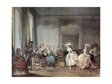 The Dance Lesson, Ca.1850-90 Giclee Print by Niklas Lavreince
