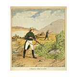 Napoleon Hunting with Count of Las Cases in Saint Helena in August 1816 Giclee Print by Louis Bombled