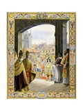 Louis XIV at Sainte-Chapelle for Proclamation of His Majority Giclee Print by Maurice Leloir