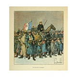 Franco-German War, Allegory for the Army of the Loire 'They Saved the Honor' Giclee Print by Louis Bombled