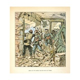 Franco-German War,74th Infantry Battalion in Ruined Village of Varize, Dec. 1870 Giclee Print by Louis Bombled