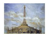 Project of Transformation of the Eiffel Tower for the 1900 Universal Exhibition Giclee Print by Henri Toussaint