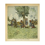 Napoleonic Wars, French Artillery During the Italian Campaign Giclee Print by Louis Bombled