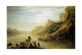 Jacques Cartier Discovering the St. Lawrence River in 1535 Giclee Print by Theodore Gudin