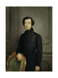 Alexis De Tocqueville, Foreign Minister under the French Second Republic. 1850 Giclee Print by Theodore Chasseriau