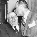 Speaker Sam Rayburn Gets a Kiss on the Head from Senate Majority Leader Lyndon Johnson Photo