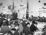 President Eisenhower Speaking at a Republican Campaign Kick-Off Breakfast for Vp Richard Nixon Photo