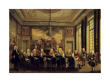 Council of Regency under Philippe D'Orleans, in Minority of Louis XV of France, Sept 16, 1715 Giclee Print
