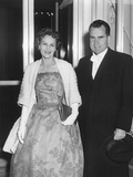 Vice President Richard Nixon with Wife Patricia Arriving at a State Dinner for Queen Elizabeth II Photo