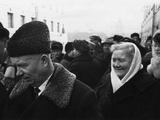 Retired Premier Nikita Khrushchev and His Wife at a Municipal Election Polling Station Photo
