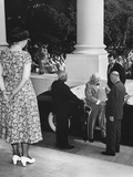 President Eisenhower Welcomes Prime Minister Winston Churchill of Britain at the White House Photo