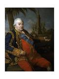 Vice-Admiral Pierre Andre De Suffren De Saint Tropez, Ca. 1780 Giclée-tryk af Pompeo Batoni