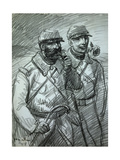Poilus. French World War I Infantrymen, Affectionately Called 'Poilu' (Hairy One) Giclee Print by Theophile Alexandre Steinlen