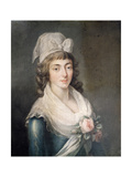 Madame Roland Wearing Girondist Bonnet, Was Executed During the Reign of Terror, 1793 Giclee Print