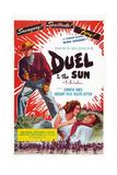 Duel i solen Giclée-tryk