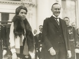 President Calvin and First Lady Grace Coolidge at the 1928 White House New Year's Reception Photo