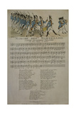 March of Marseilles. Music and Lyrics, Nov. 1792 Giclee Print