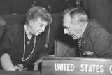 Eleanor Roosevelt and Secretary of State Dean Acheson at United Nations General Assembly in Paris Photo