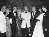 President Eisenhower with Celebrities at the White House News Photographers Association Dinner Photo
