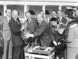 President Dwight Eisenhower Receives a Turkey from Members of the National Turkey Federation Photo