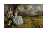 Mr. and Mrs. Andrews, 1750 Giclee Print by Thomas Gainsborough