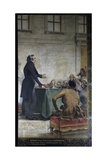Francois Arago Lectures on Astronomy at Observatory Amphitheater Giclee Print by Theobald Chartran