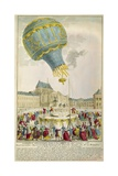 Montgolfier Brothers Hot-Air Balloon before the Royal Family at Versailles in Sept. 9, 1783 Giclee Print
