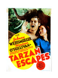 Tarzan Escapes Giclee Print