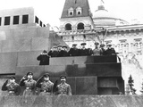 Soviet Leaders on Lenin's Tomb During for the 19th Anniversary of the October Revolution Photo