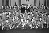 Congressman Lyndon Johnson and Fbi Director J. Edgar Hoover with Texas Boy Scouts, Ca. 1937-39 Photo