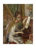 Young Women at the Piano, 1892 Giclee Print by Pierre Auguste Renoir