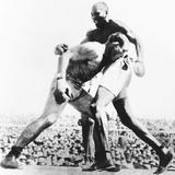 World Heavyweight Champion, Jack Johnson, (Right) Fighting Jim Jefferies in Reno Nevada Photo