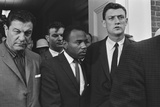 James Meredith Accompanied by U.S. Marshals at the University of Mississippi. Oct. 1, 1952 Photo
