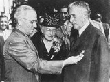 President Harry Truman Awards Distinguished Service Medal Retiring Secretary of War Henry Stimson Photo