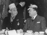 J. Edgar Hoover and Julius Lulley Enjoying a Festive Breakfast at Washington's Mayflower Hotel Photo