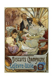 Poster Advertising Lefevre-Litile Biscuits Champagne. Late 19th C. France Giclee Print