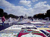 Aids Quilt Is a Memorial to and Celebration of the Lives of People Lost to the Aids Pandemic Photo