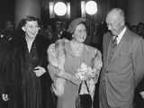 President and Mamie Eisenhower Welcome Queen Elizabeth, the Queen Mother, at the White House Photo