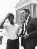 Ralph Featherstone of Sncc with Civil Rights Attorney, William Kunstler, Outside Federal Court Photo