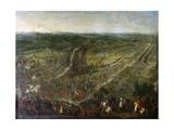 Battle of Fleurus, July 1, 1690 Giclee Print by Pierre Denis Martin