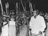 President Jomo Kenyatta Joined in Tribal Dancing of the Rendille Tribe at Embu, Kenya Photo
