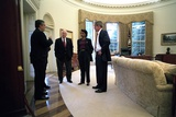 President George W. Bush with Cia Dir. George Tenet, Vp Dick Cheney and Condoleezza Rice Photo