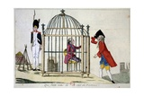Caricature Against Louis XVI in 1891 Giclee Print