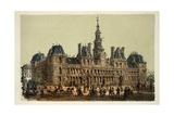 L' Hotel De Ville (City Hall), Paris 1874 Giclee Print