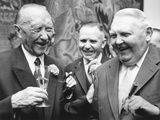 West German Chancellor Konrad Adenauer (Left), and Chancellor Designate Ludwig Erhard Photo